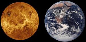 مقارنة حجم الأرض بحجم كوكب الزهرة
